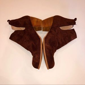 torrid Shoes - Torrid Faux Suede Brown Bootie, Sz 12W